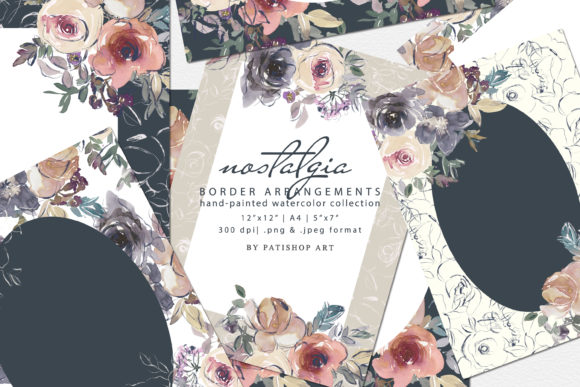 Watercolor Floral Background Collection Graphic Backgrounds By Patishop Art