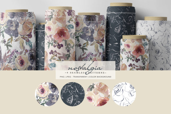 Watercolor Floral Digital Paper Pack Graphic Patterns By Patishop Art