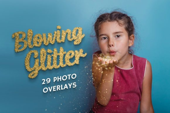 29 Blowing Glitter Photo Overlays Graphic Add-ons By AUK_SOLUTION