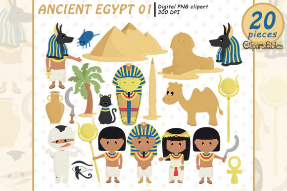 ANCIENT EGYPT Clipart, Travel Clip Art, Graphic Illustrations By clipartfables