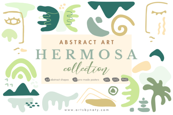 Print on Demand: Abstract Art Hermosa Collection. Graphic Illustrations By artsbynaty