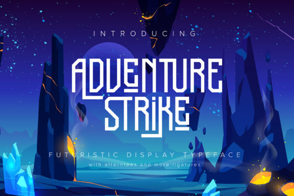 Print on Demand: Adventure Strike Display Font By Vunira