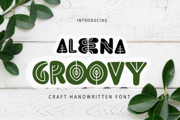 Print on Demand: Aleena Groovy Decorative Font By Vunira