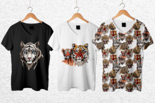 Print on Demand: Animals Tigers Watercolor Graphic Illustrations By MyStocks 2