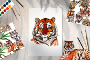 Print on Demand: Animals Tigers Watercolor Graphic Illustrations By MyStocks 7