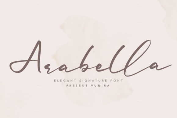 Print on Demand: Arabella Script & Handwritten Font By Vunira
