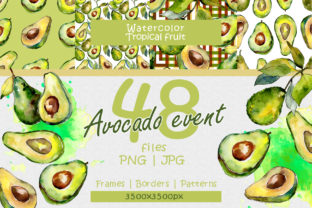 Print on Demand: Avocado Event Watercolor Set Graphic Illustrations By MyStocks