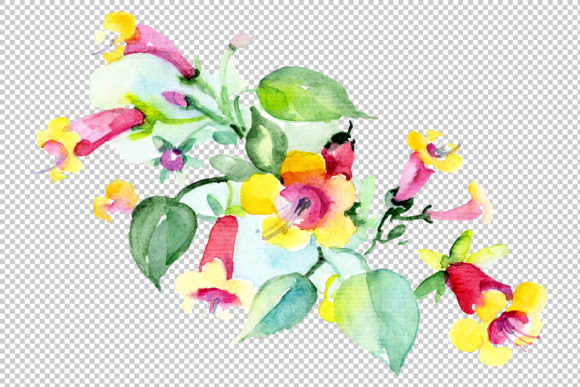 Print on Demand: Bilbao Flower Bouquet Watercolor Graphic Illustrations By MyStocks - Image 2