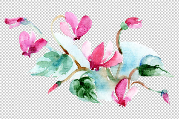 Print on Demand: Bilbao Flower Bouquet Watercolor Graphic Illustrations By MyStocks - Image 3