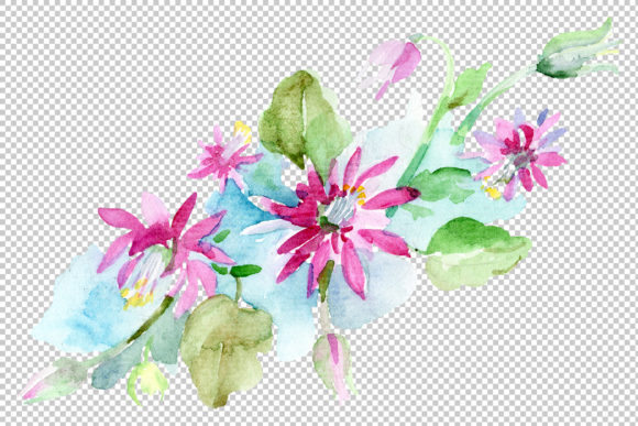 Print on Demand: Bilbao Flower Bouquet Watercolor Graphic Illustrations By MyStocks - Image 4