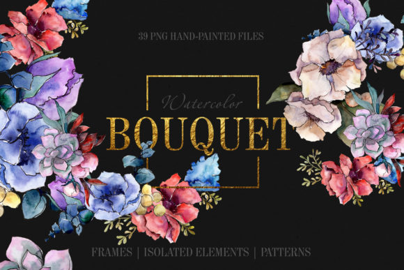 Print on Demand: Bouquet Breath of Tenderness Watercolor Png Graphic Illustrations By MyStocks