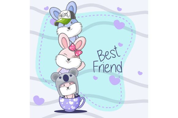 Bunny Cartoon Hand Drawn Vector Graphic Illustrations By maniacvector