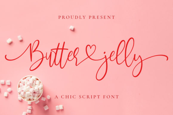 Print on Demand: Butter Jelly Script & Handwritten Font By Typesthetic Studio