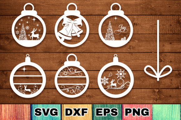 Print on Demand: Christmas Ornaments Files Pack Gráfico Crafts Por Anastasia Feya