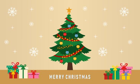 Colorful Vintage Christmas Tree Graphic Holidays By 2qnah