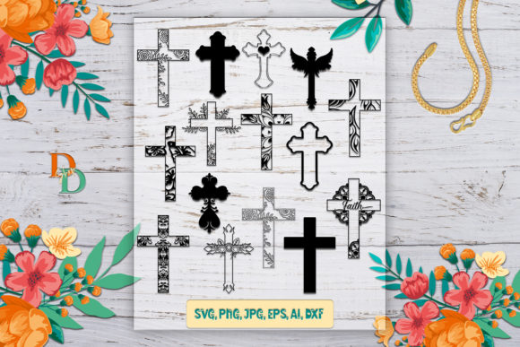 Cross File, Cross Clipart, Crosses Graphic Crafts By denysdigitalshop