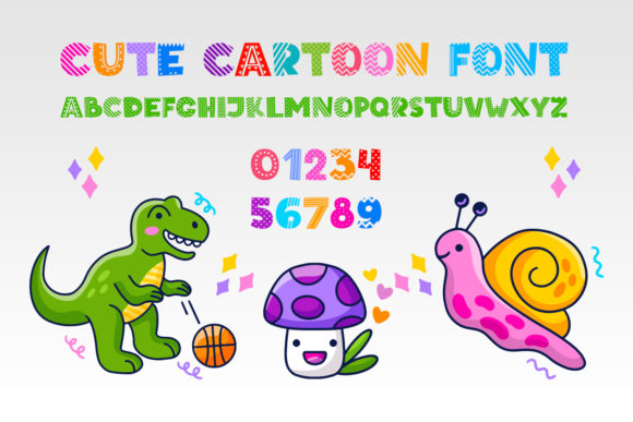 Print on Demand: Cute Cartoon Display Font By OWPictures