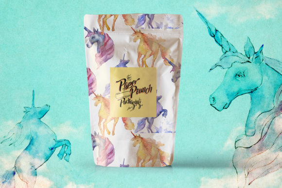 Cute Unicorn Horse Watercolor Collection Set Graphic Preview