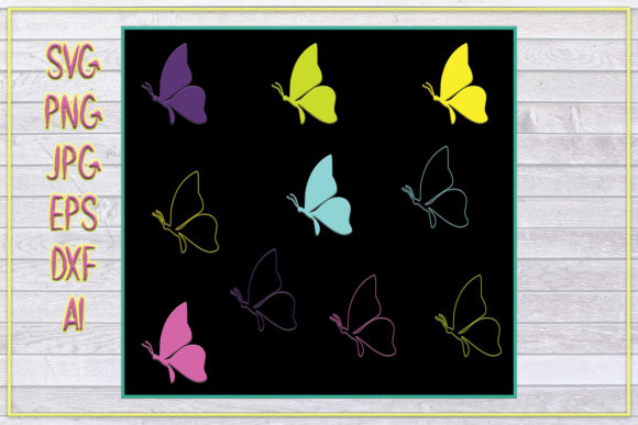 DOWNLOAD BUTTERFLIES PRINTABLE, SVG IMAG Graphic Crafts By denysdigitalshop