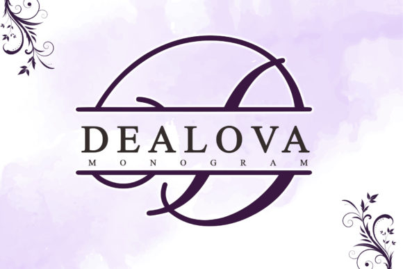 Print on Demand: Dealova Monogram Script & Handwritten Font By thomasaradea
