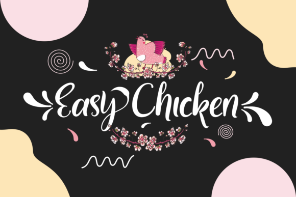 Print on Demand: Easy Chicken Script & Handwritten Font By Prast Art