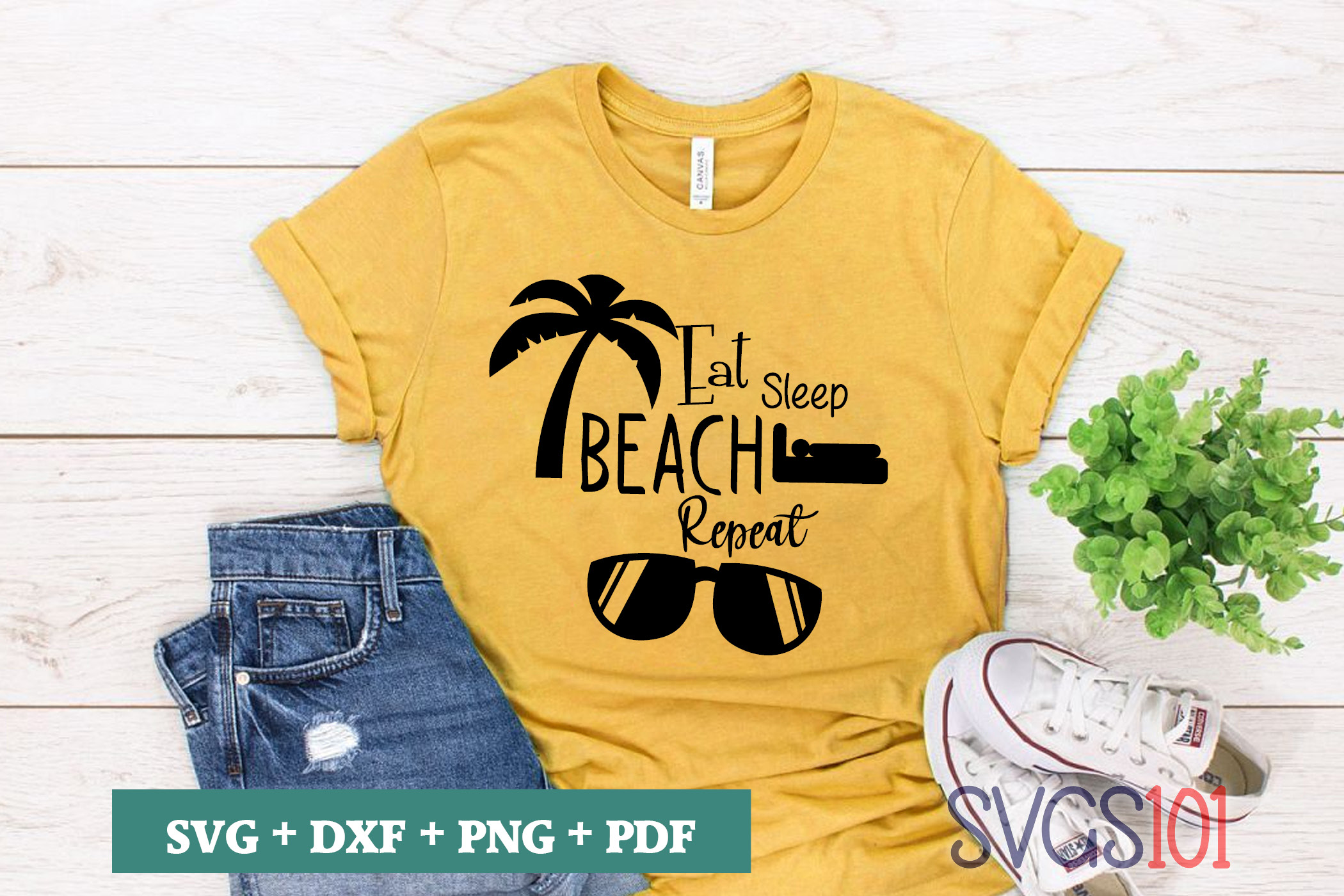 Eat Sleep Beach Repeat Graphic By Svgs101 Creative Fabrica