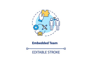 Print on Demand: Embedded Team Concept Icon Graphic Icons By bsd studio