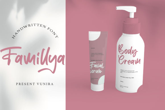 Print on Demand: Famillya Script & Handwritten Font By Vunira