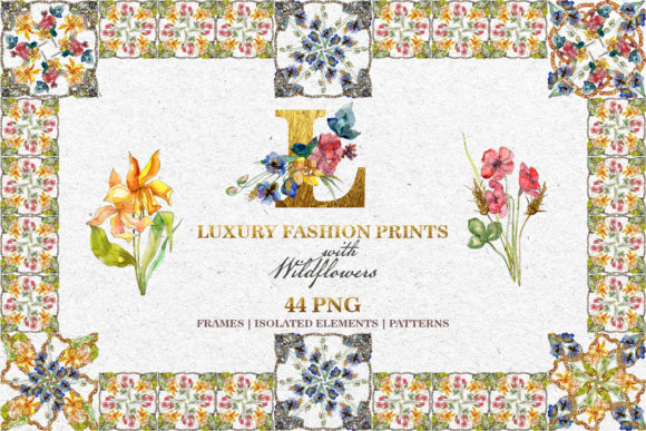 Print on Demand: Fashion Prints with Wildflowers Watercolor Graphic Illustrations By MyStocks