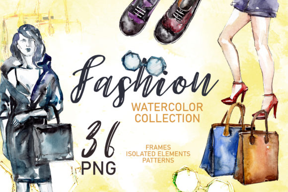 "Print on Demand: Fashionable Collection ""Super Style"" Watercolor Graphic Illustrations By MyStocks"