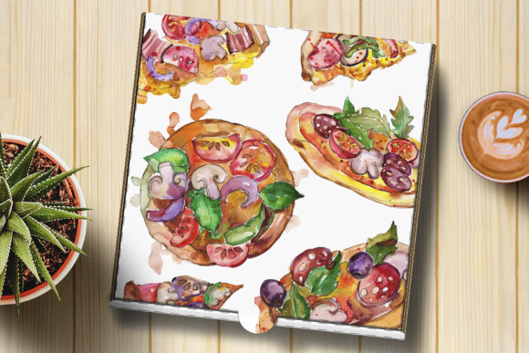 Fast Food Hot Dog Watercolor Graphic Design