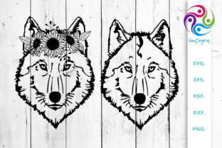 Print on Demand: Floral Wolf Graphic Crafts By Sintegra