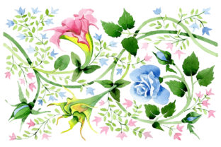 Print on Demand: Floral Watercolor Pattern Graphic Illustrations By MyStocks