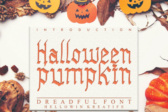 Print on Demand: Halloween Pumpkin Display Font By andikastudio