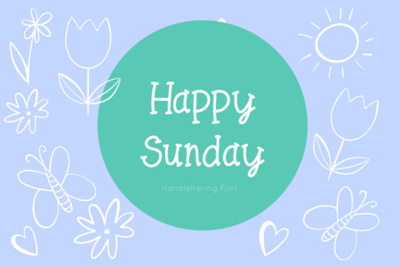Print on Demand: Happy Sunday Script & Handwritten Font By IsaraDesign