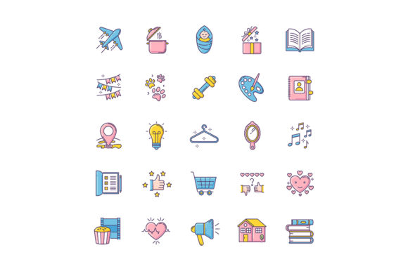Print on Demand: Healthy Lifestyle RGB Color Icons Set Graphic Icons By bsd studio