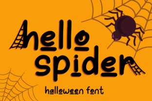 Print on Demand: Hello Spider Script & Handwritten Font By attypestudio