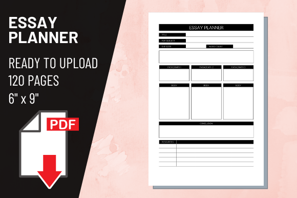 Print on Demand: KDP Interior Essay Planner Graphic KDP Interiors By atlasart