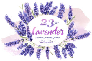 Print on Demand: Lavender Flowers in Watercolor Graphic Illustrations By MyStocks