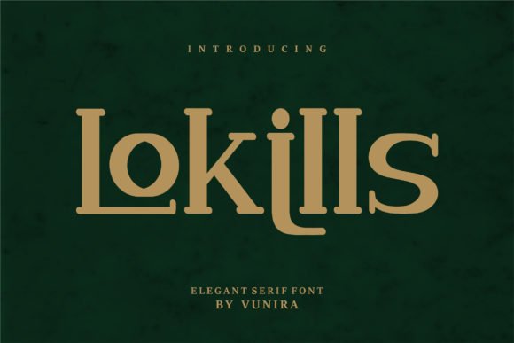 Print on Demand: Lokills Serif Font By Vunira