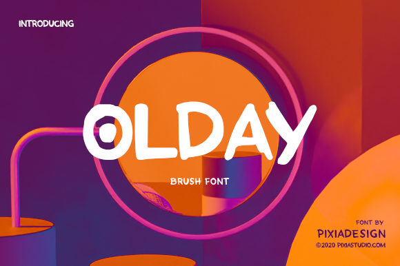 Print on Demand: Olday Display Font By pixia