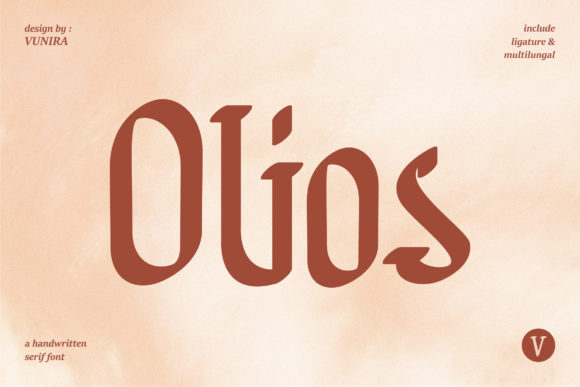 Print on Demand: Olios Serif Font By Vunira