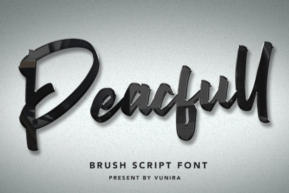 Print on Demand: Peacfull Script & Handwritten Font By Vunira