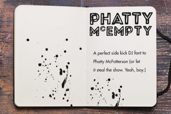 Print on Demand: Phatty Family Display Font By Mike Brennan