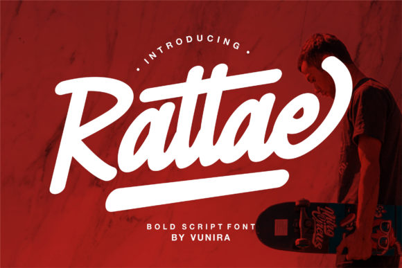 Print on Demand: Rattae Script & Handwritten Font By Vunira