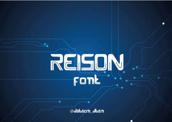 Print on Demand: Reison Display Font By dhimasbagas10