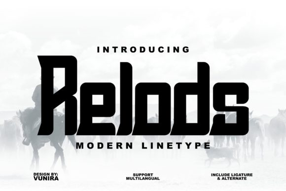 Print on Demand: Relods Display Font By Vunira