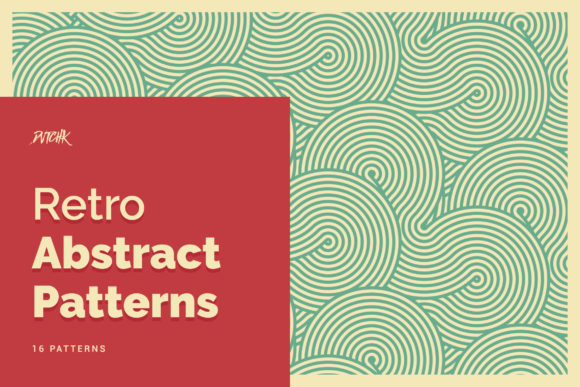 Retro Abstract Patterns Graphic Patterns By dvtchk