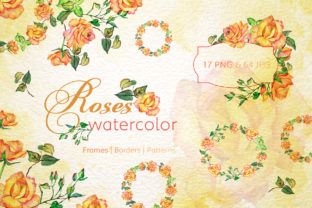 Print on Demand: Roses Watercolor Yellow Graphic Illustrations By MyStocks 1