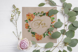 Print on Demand: Roses Watercolor Yellow Graphic Illustrations By MyStocks 4